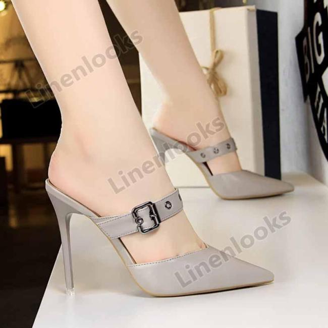 New Leather Wonen Pumps Fashion Sexy Pointed toe Hollow High Heels Shoes