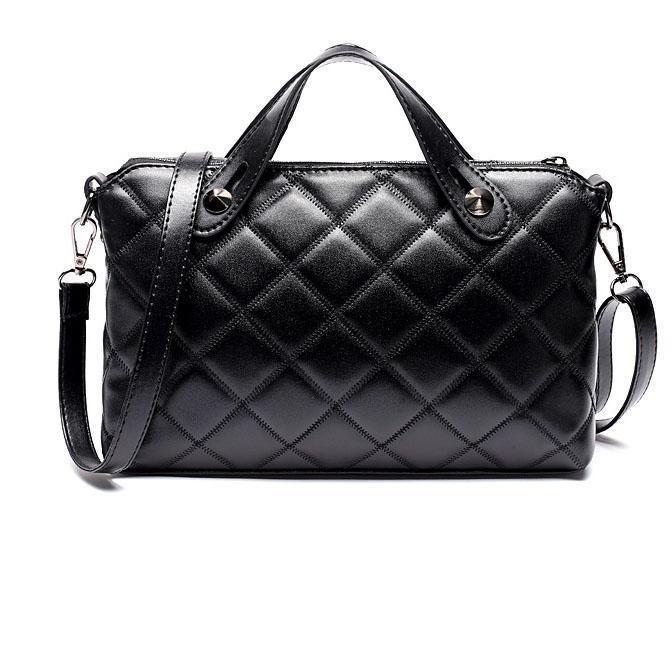 Women Elegant Black Zipper  Cross-body Bags