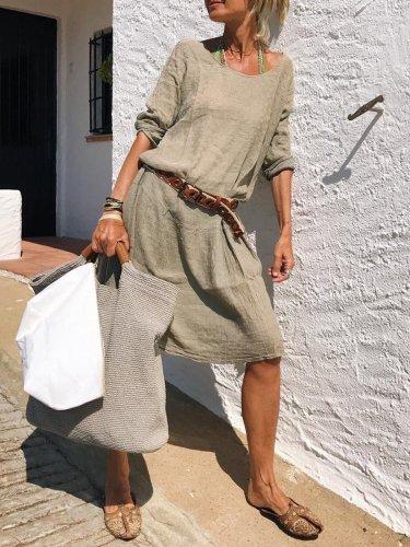 Casual Long Sleeve Casual Dresses
