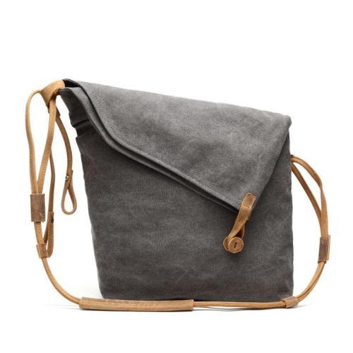 Simple Literature Worn Shoulder Convas Bag