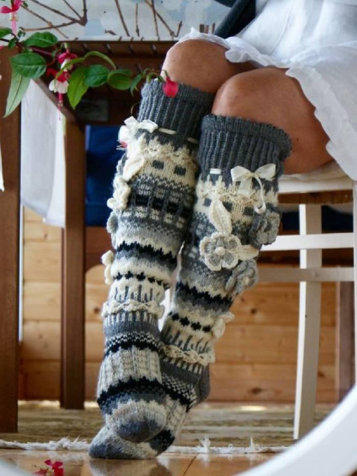 Multicolor Cotton-Blend Casual Underwear & Socks