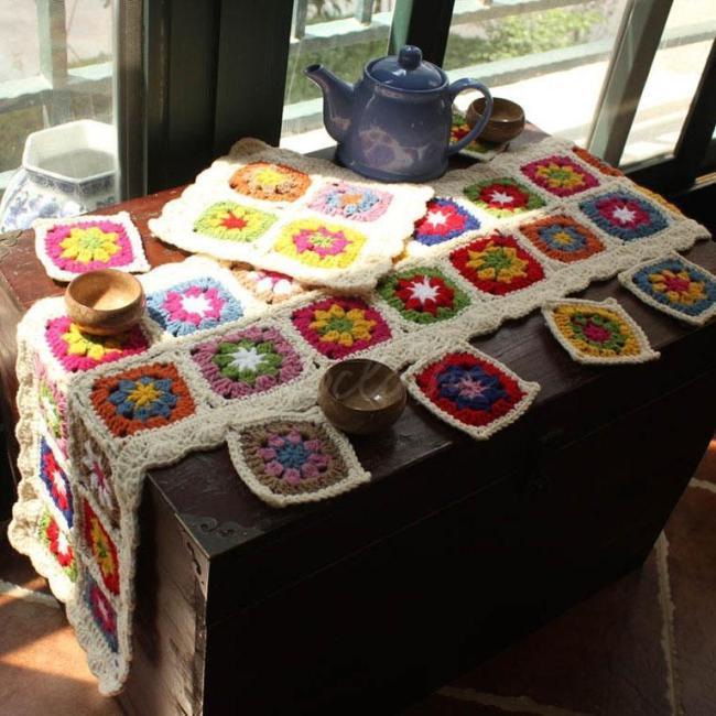 Hand Hook Garden Wool Desktop Eight-piece Set