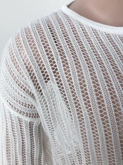 Sweater Short Open-neck Cutout Beach Bikini Top Sweaters  Knit Sweater Women Short
