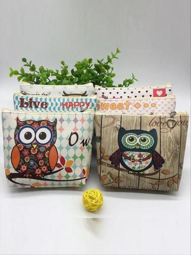 Fashion Cartoon Owl Zero Wallet Key Bag Children's PU Wallet Coin Bag