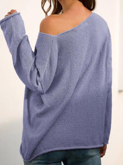 Long Sleeve V Neck Plain Casual Sweaters