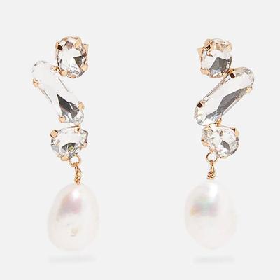 Earrings for Women Stone Crystal Dangle Drop Earrings Wedding Party Pearl Jewelry