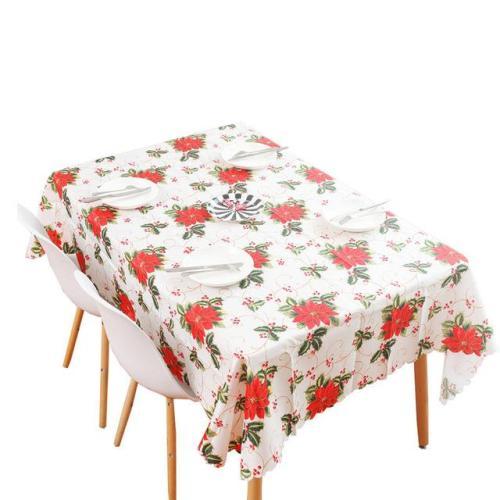 Linen Cotton Christmas Washable Tablecloth