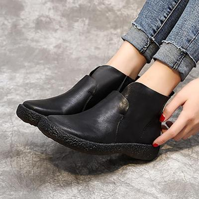 Women Classic Booties Casual Slip On High Quality Shoes