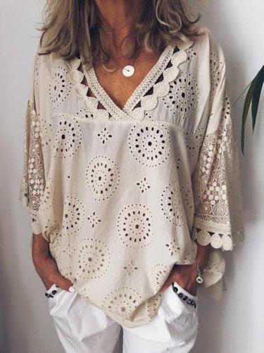 Women Cutout Blouse T Shirt Tunic Tops