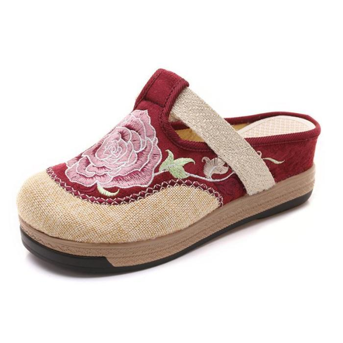 Women Old Peking Slippers Casual Comfort Shoes