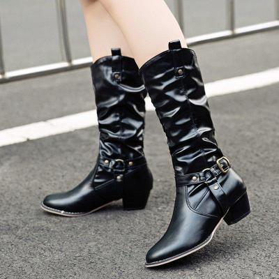 Women Vintage Booties Casual Plus Size Shoes