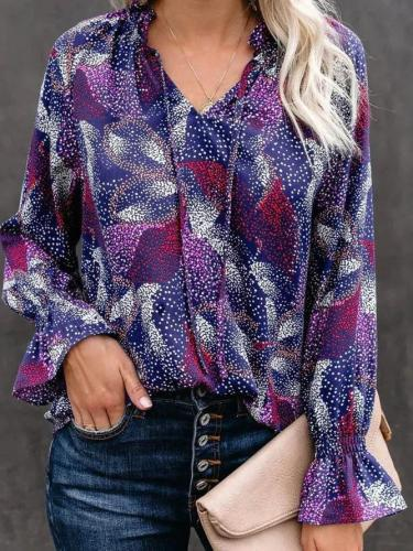 Casual Long Sleeve Printed Shirts & Tops