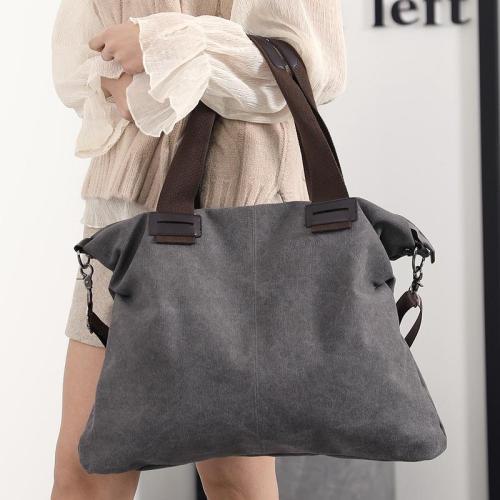 Bag - Casual Soild Durable Thicker Canvas Large Capacity Shoulder Bag