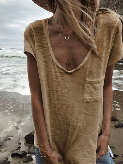 Women Summer Basic T Shirt Tops
