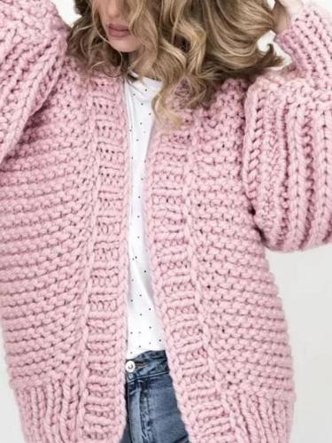 Fashion Casual Loose Puff Sleeves Cardigan
