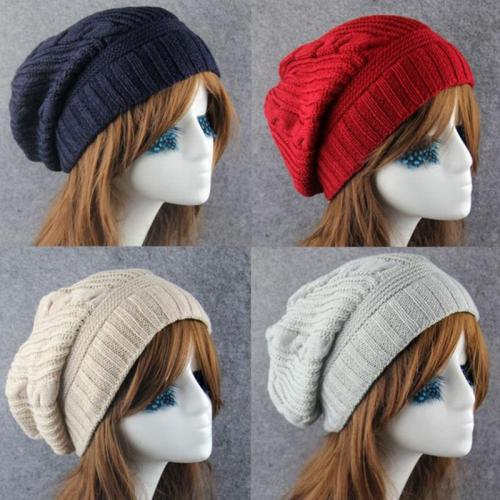 New Korean Winter Hats for Women Casual Knitted Beanie Cap