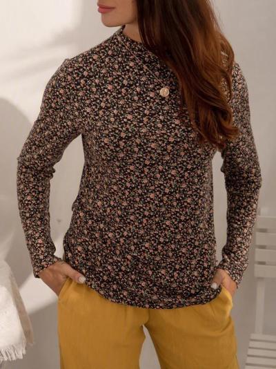 Vintage Printed Sheath Shirts & Tops