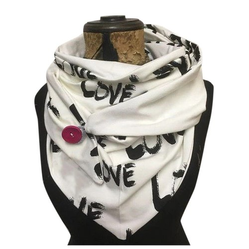 Women Printing Scarf Fashion Retro Female Multi-Purpose Shawl Scarf