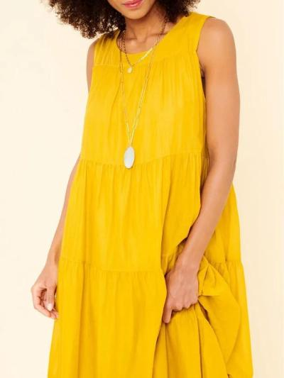 Yellow Sleeveless Holiday Dresses