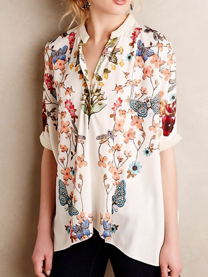 Women plus size short sleeve cotton casual TOP