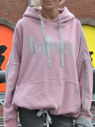 Pink Long Sleeve Hoodie Shirts & Tops