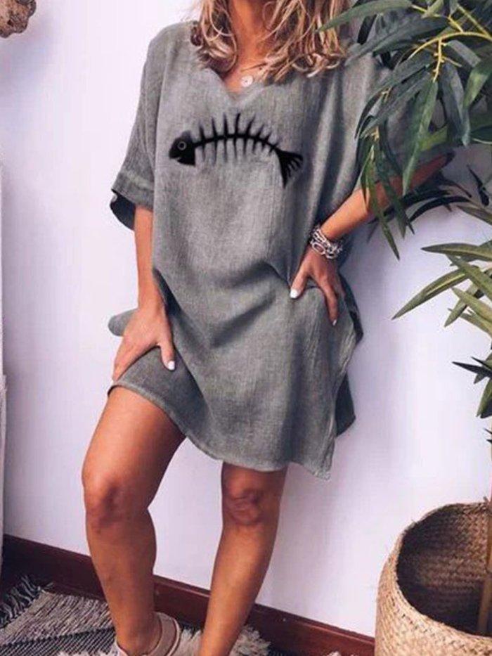 Half Sleeve Casual Dresses