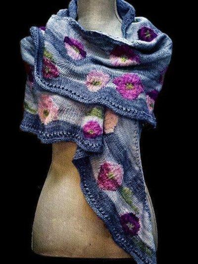 Cotton-Blend Vintage Scarves & Shawls