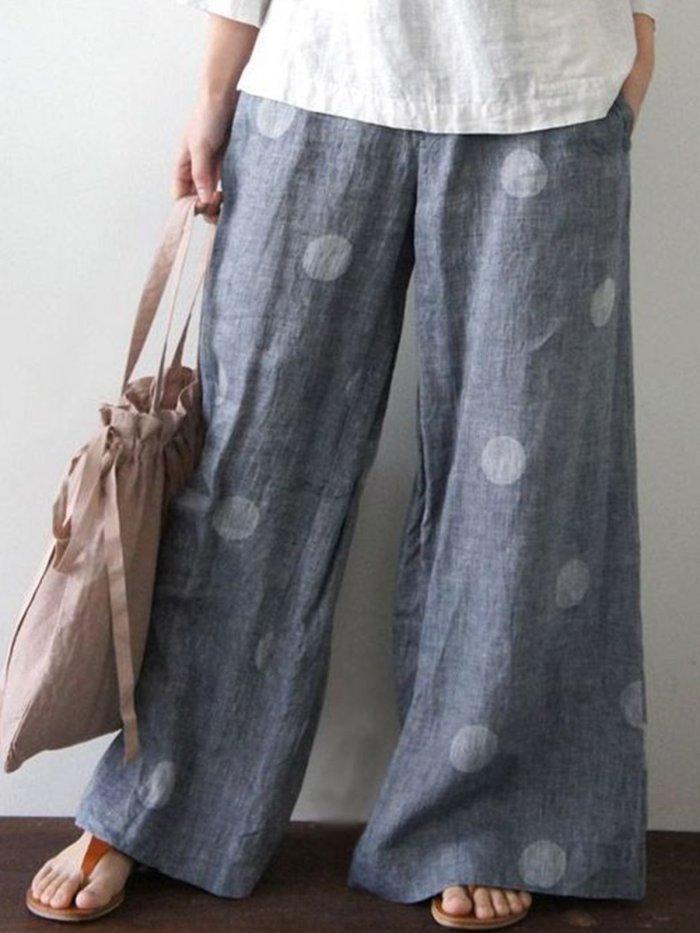 Polka Dots Vintage Linen & Cotton Bottoms