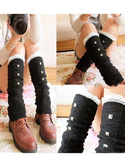 Women's lace lace pile socks