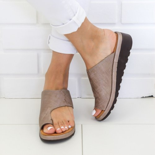 Women Casual Sliver Sandals Comfy Low Heel Open Toe Platform Shoes