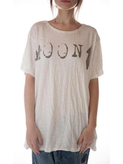 White Round Neck Cotton-Blend Short Sleeve Shirts & Tops