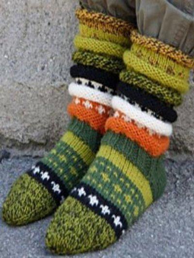 Green Knitted Underwear & Socks