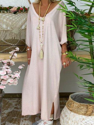Solid Casual Maxi Dresses