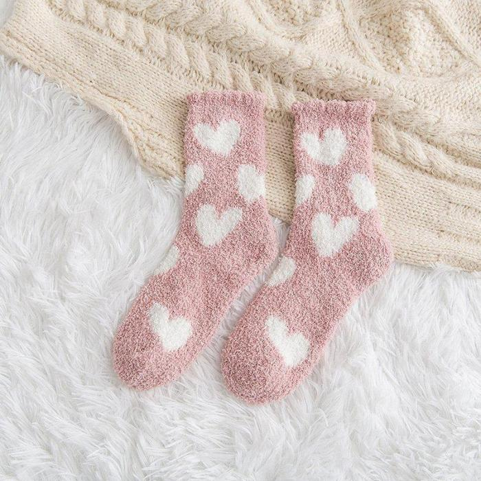 Coral Velvet Socks Sleep Socks