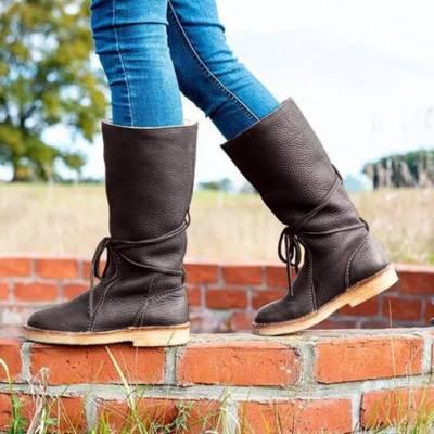 Women Casual Slip on Mid-calf Winter Boots