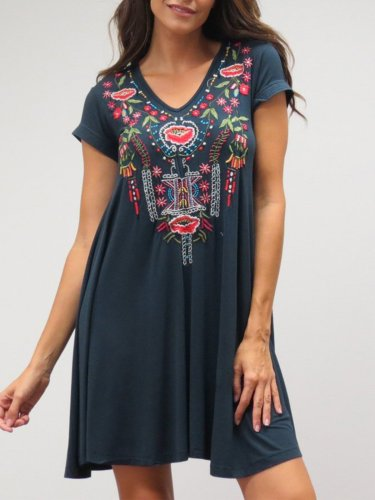 Short Sleeve Sweet Dresses