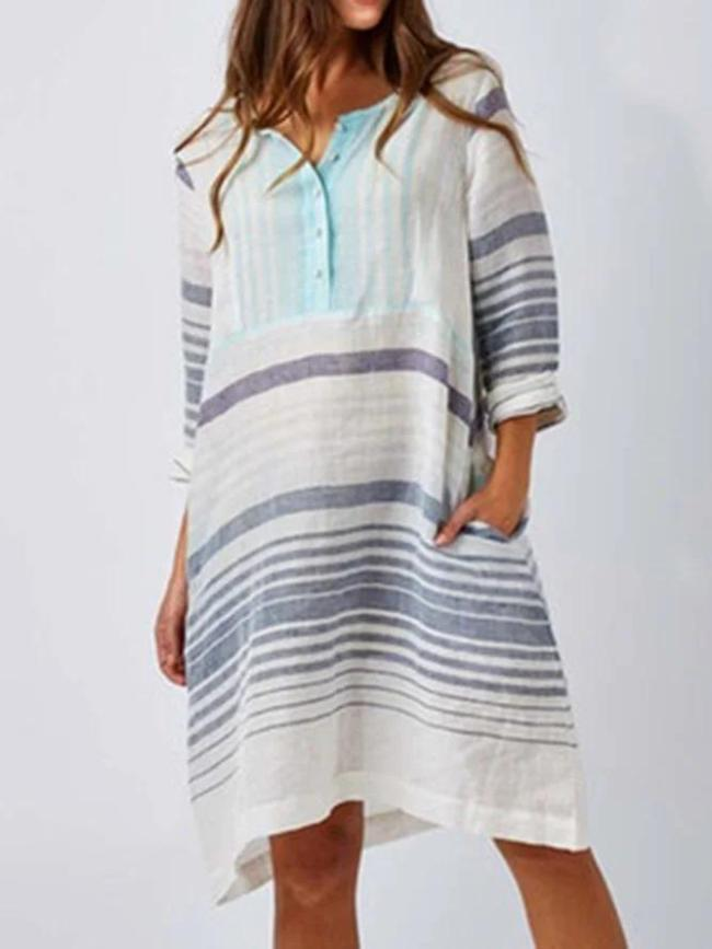 White Women Dresses Shift Beach Boho Paneled Dresses