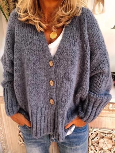 Women Casual Plus Size Sweater Cardigan