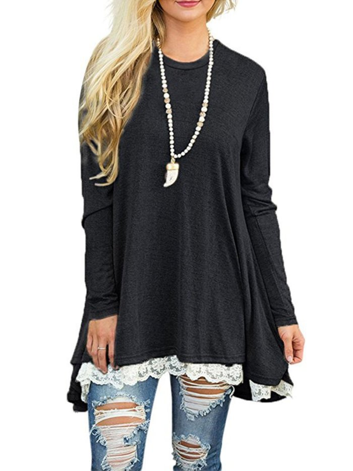Solid Casual Polyester Top