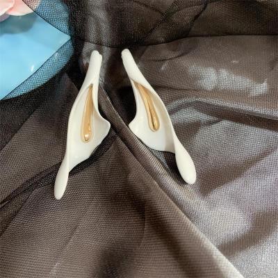 New Ceramic Calla Lily flower Stud Earrings Fashion Wedding Bride Jewelry