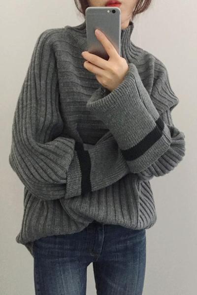 Fashion warm turtle neck sweater
