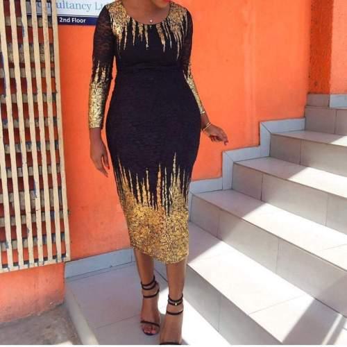 Fashion Bubble Cotton Long Sleeve Slim Bodycon Dresses