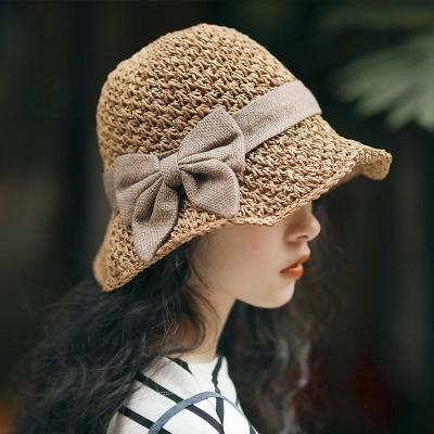 New Bohemia Beach Straw Sunshade Bow Female Hats For Women 2020 Casual Fashion All Match 3 Colors Hats