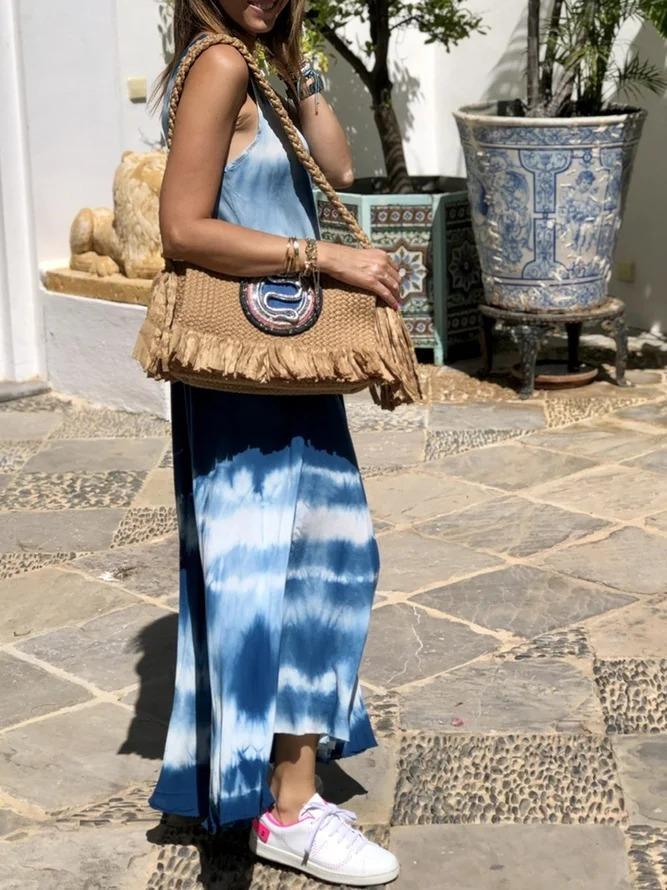Sleeveless Maxi Dress Summer Plus Size Boho Dresses