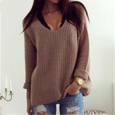 2020 Cashmere Sweater Women Sweaters and Pullovers Women Fashion V Neck Solid Color Long Sleeve S-XL Knitted Befree Sweater