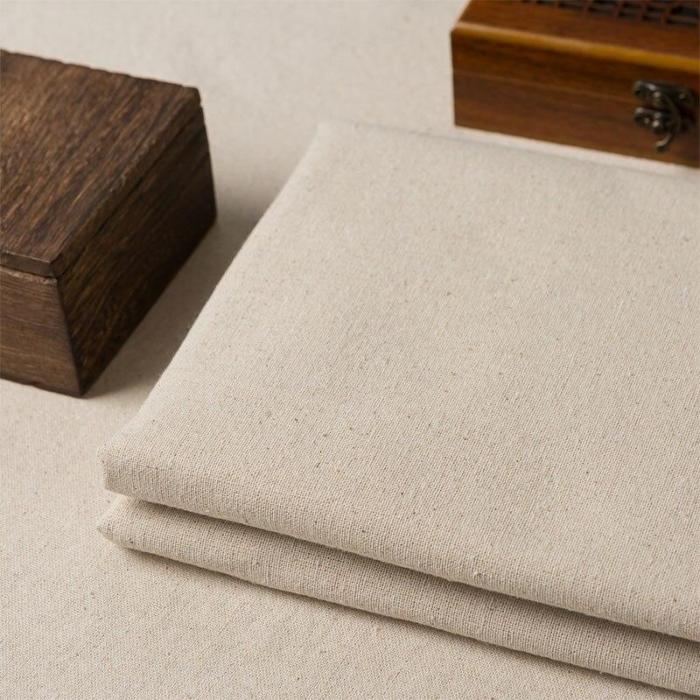 50*145cm  Color cotton and linen fabric by half meter for DIY sofa curtain tablecloth home decor cotton Cloth Material