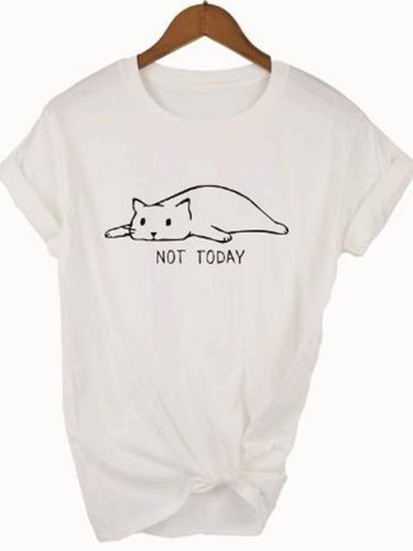 Short Sleeve Round Neck Printed Shirts & Tops