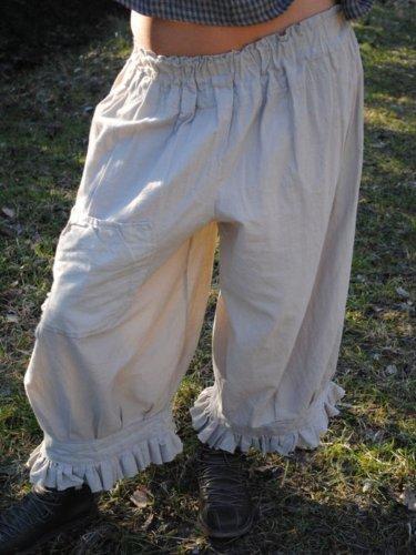 Casual Ruffled Plain Vintage Pants
