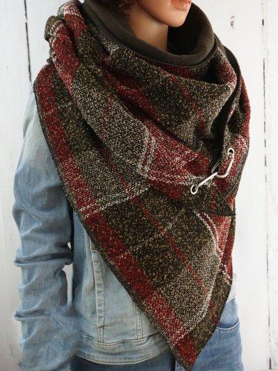 Tweed Coral Velvet Casual Scarves & Shawls