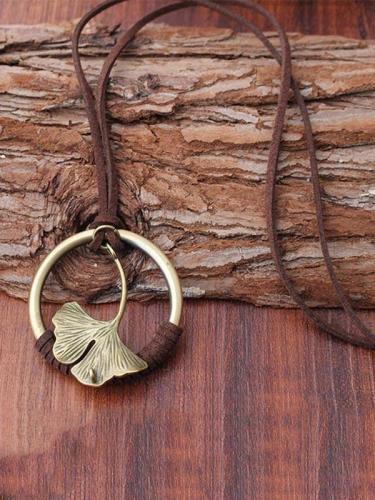Vintage Ginkgo biloba Necklaces